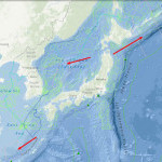 Location of Potential tensions in the East Seas (China and Taiwan, Japan, Korea and Russia)