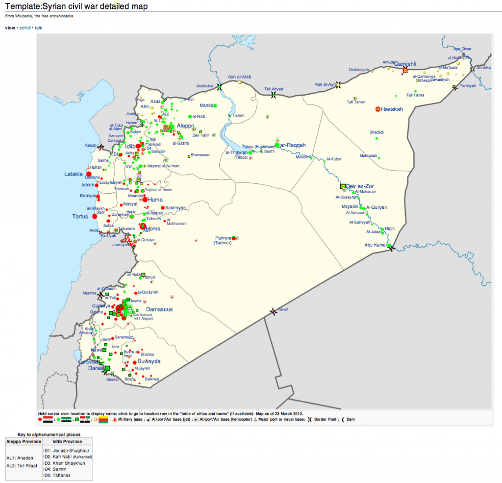 Template Syrian civil war detailed map Wikipedia the free ...