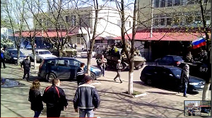 On 16 April 2014, Ukrainian soldiers sent by Kiev would have defected when arriving in Kramatorsk after having discussed with local people. from Youtube video posted by Kobi Michael https://www.youtube.com/watch?v=4iOcAfFPH0E