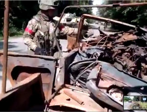 Battle aftermath, DPR, LPR, Donestk, Luhansk, People's Republics, Ukraine