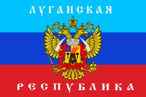 LPR flag, DPR, LPR, Donestk, Luhansk, People's Republics, Ukraine