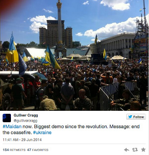 tweet Maidan 29 June, DPR, LPR, Donestk, Luhansk, People's Republics, Ukraine
