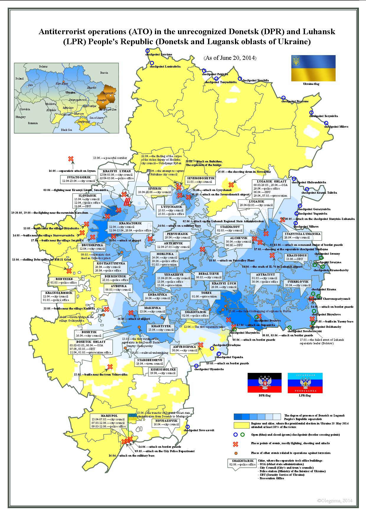 War in Ukraine Hope Outrage and Fortitude The Separatists 2 – Map Ukraine Fighting