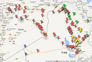 Islamic State, map, Caliphate