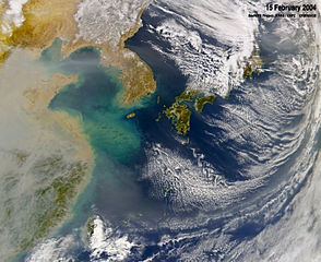 294px-Haze_over_East_China_Sea, _Feb_2004