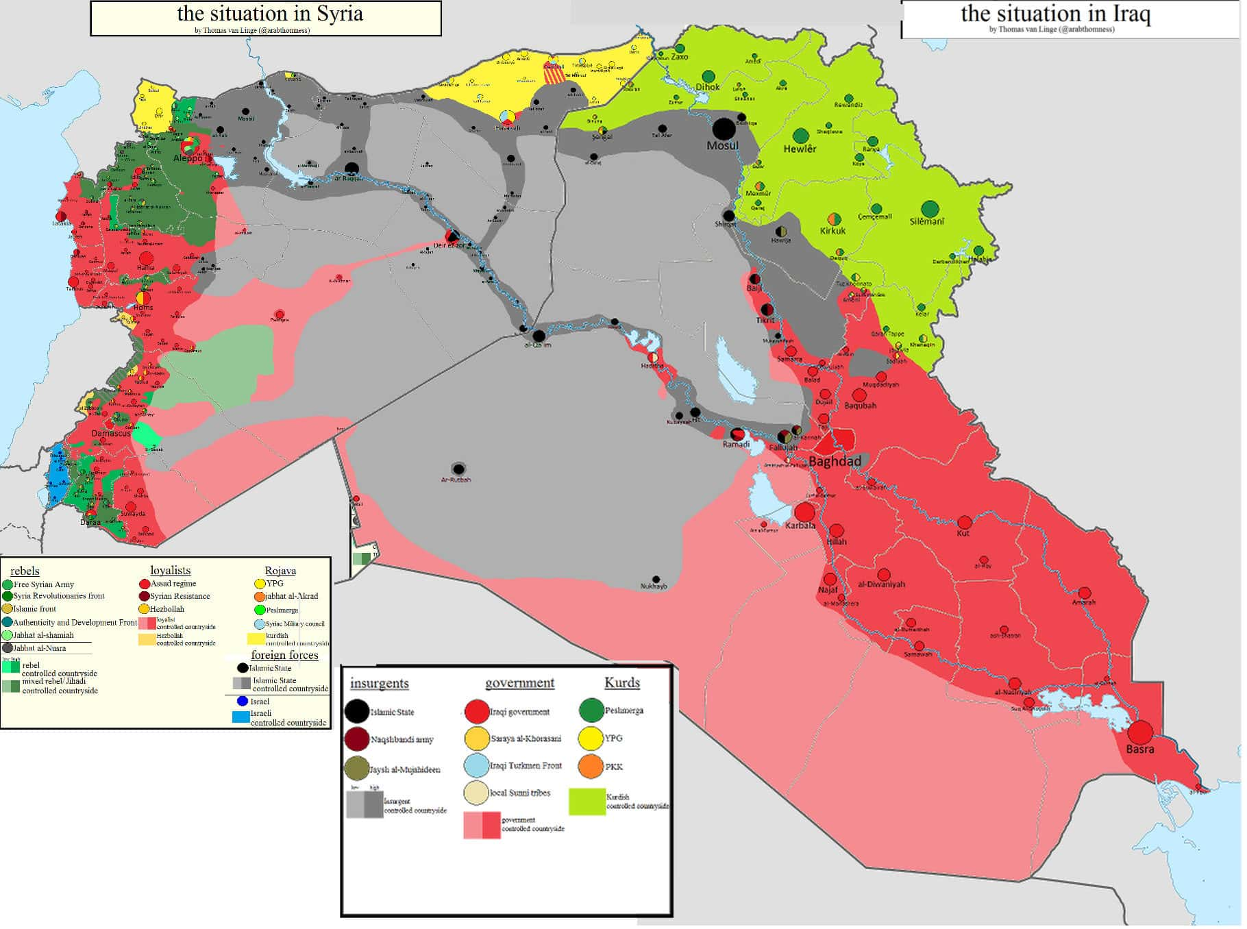 The conflicted geography of isis rebel news the shading spreading across this map might be interpreted as reflecting is black flags were it not juxtaposed by the green signifying iraqi kurdistan gumiabroncs Image collections