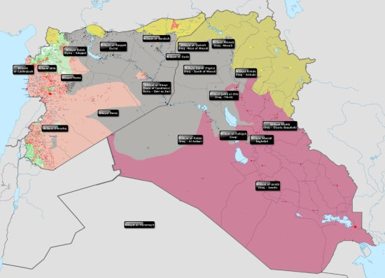 Islamic State, wilayat, Iraq, Syria, war