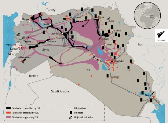 Russian Air strike on Syria, Sputnik, Syrian war, Iraq war, Islamic State map, Islamic State war
