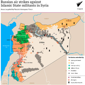 Russian Air strike on Syria, Sputnik, Syrian war, Islamic State map, Islamic State war