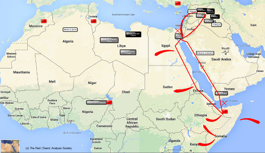 Islamic State, Somalia, map, map of Islamic State in Somalia, Al Shabaab