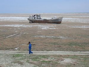 Aral Sea, urbanisation anthropocene, Kazhakstan