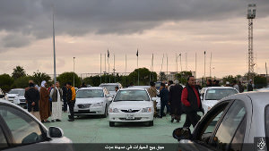 Sirte, car sales, Islamic State, Libya