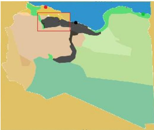 map IS all corridor south, map Islamic State Libya 13 May