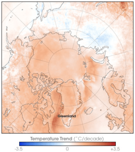 NASA Arctic temperature change 1981-2007, Red (Team) Analysis Society, strategic foresight, strategy, Russian Arctic, paradoxical logic