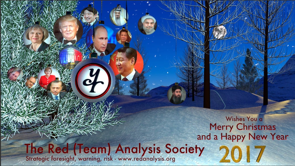 Red (Team) Analysis, Red (Team) Analysis Society, Scenario Analysis, Scenario building, strategy, warning, geopolitical risk, geopolitical uncertainty, uncertainties, Christmas, Season's Greetings